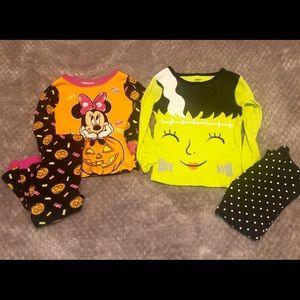 2 Pack Carters/Disney Minnie Halloween Pajamas